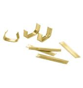 Verschlussklipse für Zellglasbeutel gold 0,7 x 3cm 25 Stück