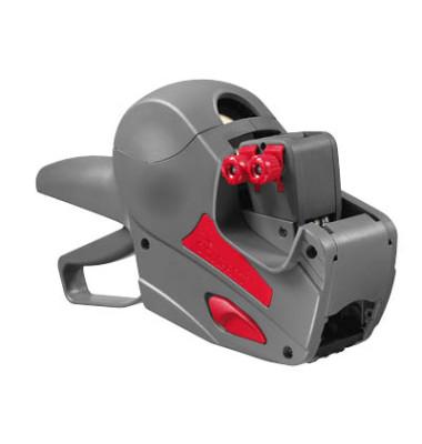 Preisauszeichner COMPACT 1626 grau/rot 2-zeilig 10-stellig/6-stellig