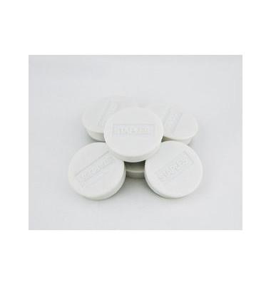 Haftmagnet rund f.8 Bl.A4 80g weiß D:25mm 10 St