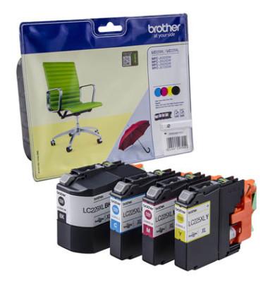 Druckerpatrone LC-229XL schwarz / cyan / magenta / gelb 1x ca 2400 Seiten / 3x ca 1200 Seiten Multipack