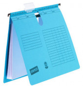 Hängehefter RC-Karton kaufmännische-Heftung blau A4 230g 10 Stück