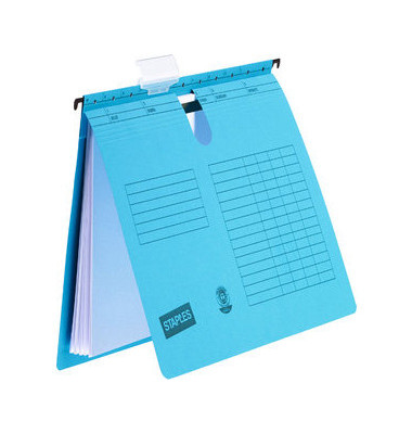 Hängehefter A4 230g Karton blau kaufmännische Heftung 10 Stück