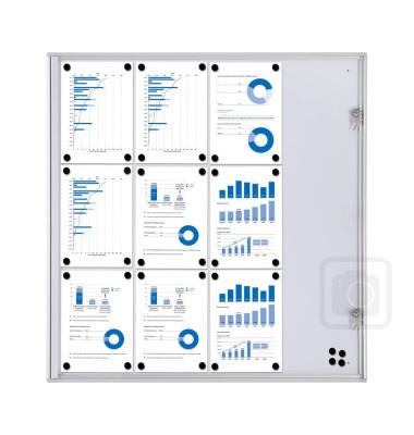 Schaukasten XS 93,1 x 2,6 x 96,3 cm (BxTxH) für bis 12x A4