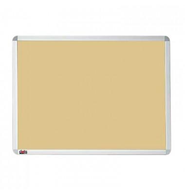 Pinnwand, 60x45cm, Textil, Aluminiumrahmen, beige