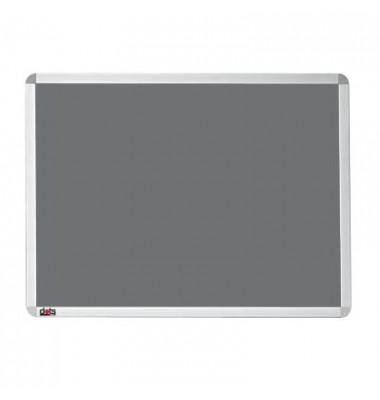 Pinnwand, 60x45cm, Textil, Aluminiumrahmen, grau