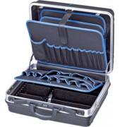 Werkzeugkoffer Basic schwarz/blau ohne Inhalt