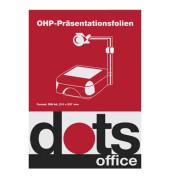 Kopierfolie DOTSOHP125, A4, für S/W-Laserdrucker, Farb-Laserdrucker, S/W-Kopierer, Farb-Kopierer, 0,12mm, Overhead-Folie, trans