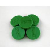 Haftmagnet rund f.8 Bl.A4 80g grün D:25mm 10 St