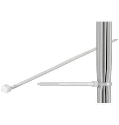 Kabelbinder transparent 20cm 100 Stück