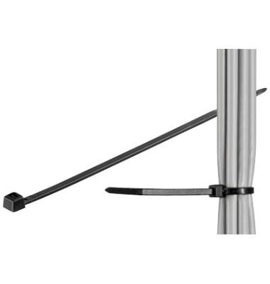 Kabelbinder schwarz 20cm 100 Stück