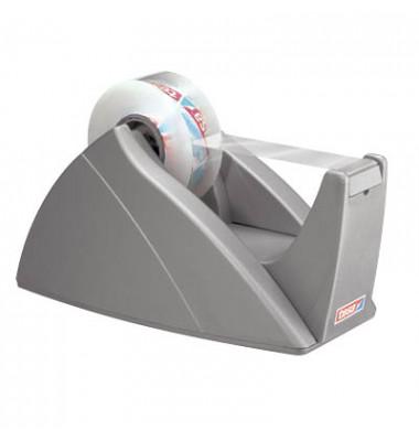 Tischabroller für Klebefilmrollen bis 33,0 m x 19,0 mm silbergrau