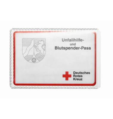 Ausweishüllen geeignet für z.B. EC-Karten und Kreditkarten, Rentenausweis, Führerschein und Blutspendeausweis