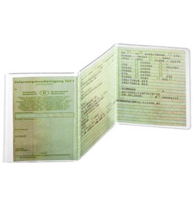 Ausweishüllen geeignet für KFZ-Schein, 3-teilig