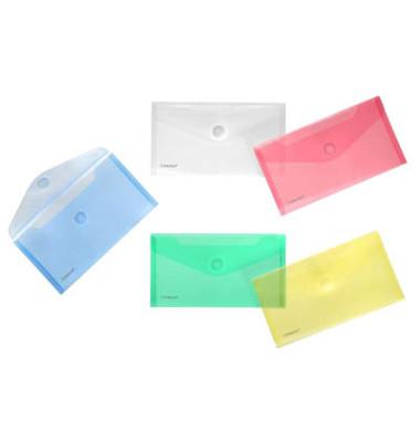 Dokumententasche 40103 Din Lang farbig sortiert/transparent 10 Stück
