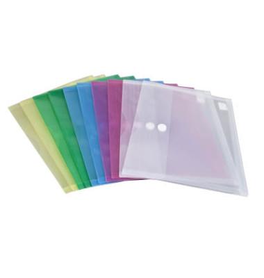 Dokumententasche 40105 A4 farbig sortiert/transparent 10 Stück