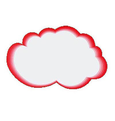 Moderationswolken rot/weiß 41x26cm 20 Stück