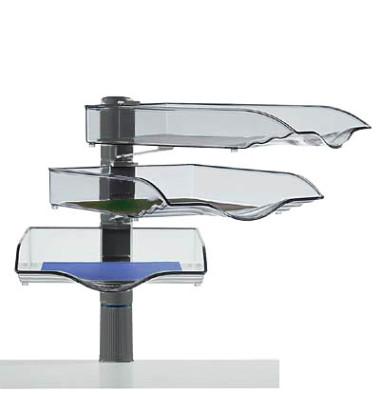 Briefablageset CopySwinger A4 / B4 anthrazit-transparent 3 Fächer