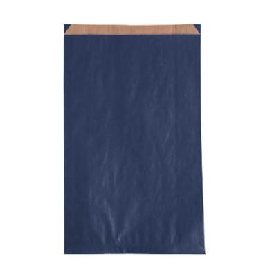 Faltenbeutel blau 15,0 x 4,0 x 21,0 cm (BxTxH)