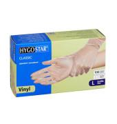 Handschuhe transparent weiß Vinyl gepudert Größe L