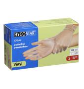 Handschuhe transparent weiß Vinyl puderfrei Größe S