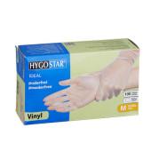 Handschuhe transparent weiß Vinyl puderfrei Größe M