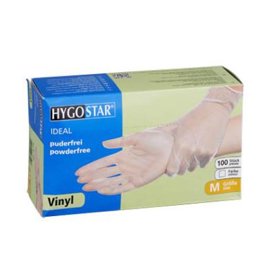 337d7f1be62e31 Handschuhe transparent weiß Vinyl puderfrei Größe M