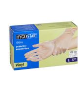 Handschuhe transparent weiß Vinyl puderfrei Größe L