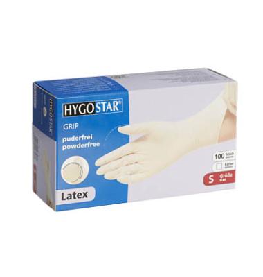 Handschuhe weiß Latex puderfrei Größe S