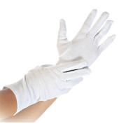 Handschuhe weiß Baumwolle Größe L