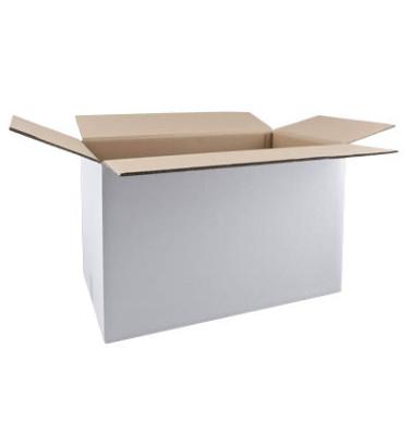 Faltkartons 61,3 x 36,3 x 37,8cm weiß 20 Stück Wellpappe