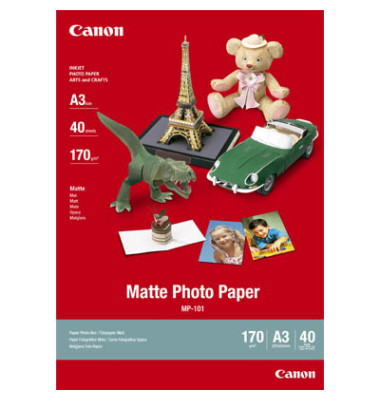 Inkjet-Fotopapier A3 MP-101 einseitig matt 170g 40 Blatt