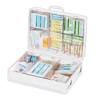 Erste-Hilfe-Koffer Industrie weiß gefüllt DIN 13169