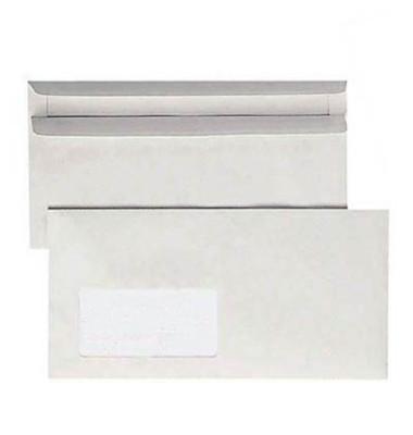 Briefumschläge Din Lang mit Fenster selbstklebend 75g grau Recycling