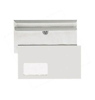 Briefumschläge Kompakt mit Fenster selbstklebend 75g grau 1000 Stück Recycling