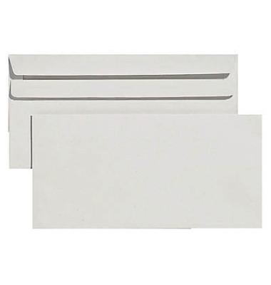 Briefumschläge Din Lang ohne Fenster selbstklebend 75g grau Recycling