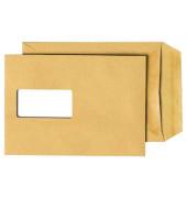 Versandtaschen C5 mit Fenster selbstklebend 90g braun 250 Stück