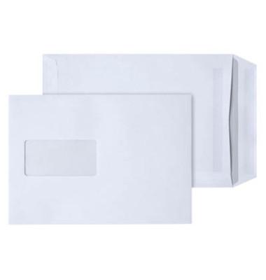 Versandtaschen C5 mit Fenster selbstklebend 90g weiß 250 Stück