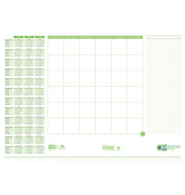 Schreibunterlage weiß/grün 525x375mm