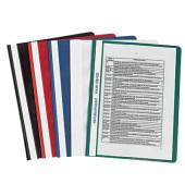 Schnellhefter 140110 A4 farbig sortiert PP Kunststoff kaufmännische Heftung bis 80 Blatt 50 Stück