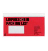 """Lieferscheintaschen Din Lang """"LIEFERSCHEIN"""" selbstklebend 250 Stück"""