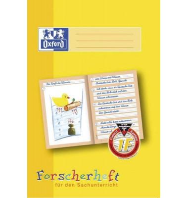 Forscherheft 1. Schuljahr A4 Lineatur 1F liniert weiß 16 Blatt