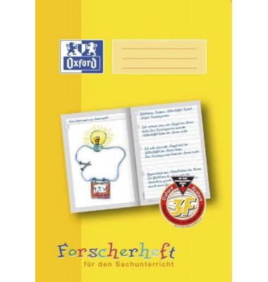 Forscherheft 3. Schuljahr A4 Lineatur 3F liniert weiß 16 Blatt