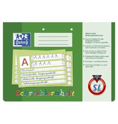 Schreiblernheft 1. Schuljahr A4 quer Lineatur SL liniert 2-fach gelocht weiß 16 Blatt