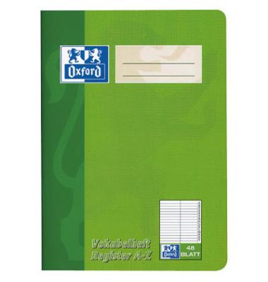 Vokabelheft A5 Lineatur 53 liniert 2 Spalten mit Register weiß 48 Blatt