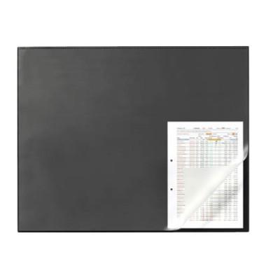 Schreibunterlage 7293-01 mit Kantenschutz schwarz 65x52 Kunststoff