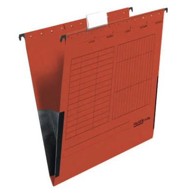 Hängetaschen UniReg A4 rot 25 Stück 230g seitliche Frösche 80002603