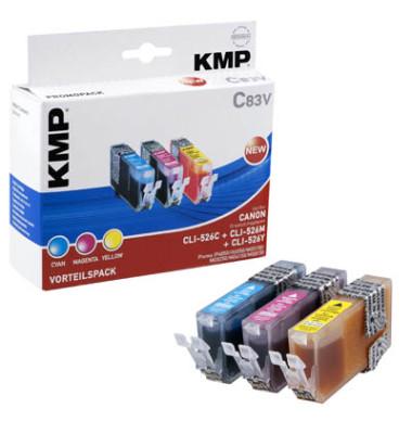 Tinten cyan, magenta, gelb ersetzt Canon CLI-526C/M/Y