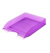 Briefablage Basic A4 / C4 purpur-transparent stapelbar