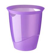 Papierkorb TREND 16 Liter purpur transluzent