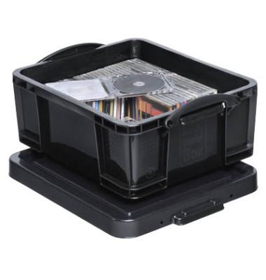 Aufbewahrungsbox 18BK schwarz 18 Liter 390 x 200 x 480mm